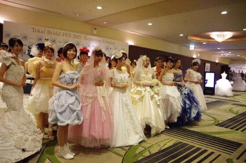 「桂由美グランドコレクションINナゴヤ/東海ブライダルフェス」にヘアメイクとして参加しました。