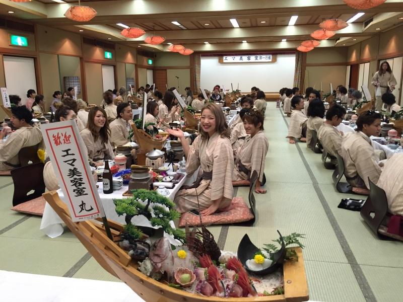 毎年恒例の「慰安旅行」。今年は、静岡県{伊豆・稲取温泉}の旅へ行ってきました。