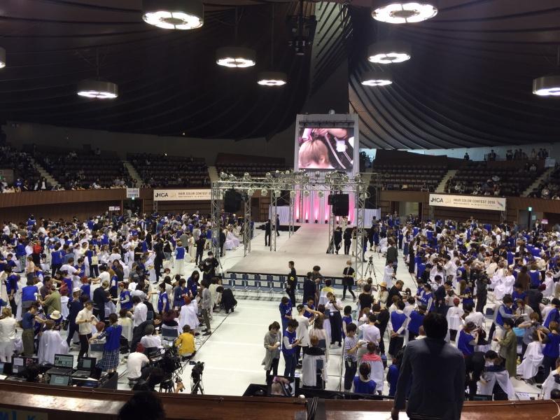 jhca(日本ヘアカラー協会)のヘアカラーコンテスト2016全国大会が、東京代々木国立第二体育館にて、開催されています。中部ブロックの代表として出場しました。